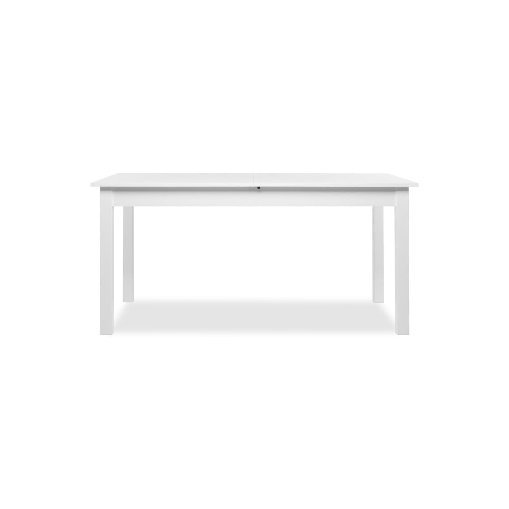 Bílý rozkládací jídelní stůl Intertrade Coburg, 160 x 90 cm