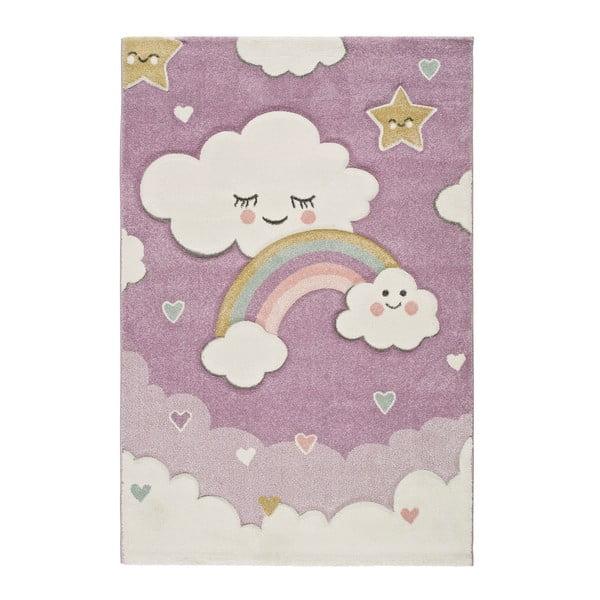 Covor pentru copii adecvat și pentru exterior Universal Toys Lilac, 120 x 170 cm, mov