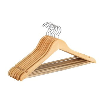 Set 8 umerașe din lemn pentru haine Wenko Shaped Hanger Eco imagine
