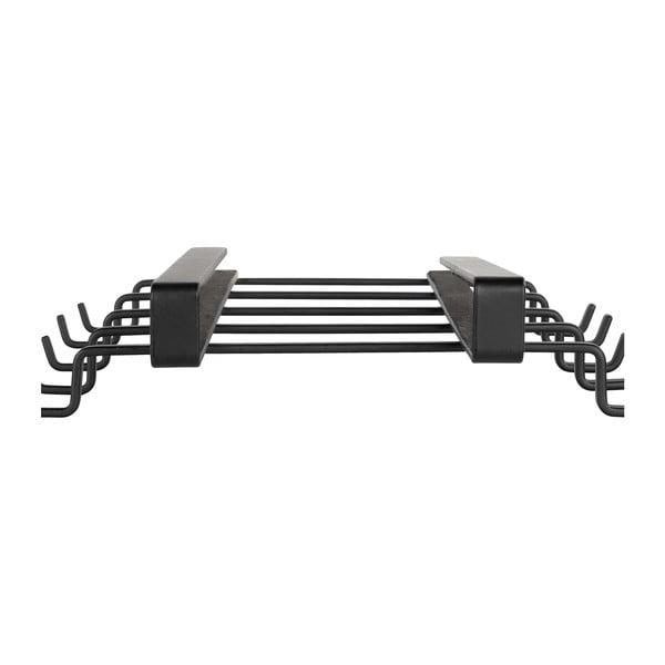 Suport 8 căni metalic pentru raft Wenko, negru