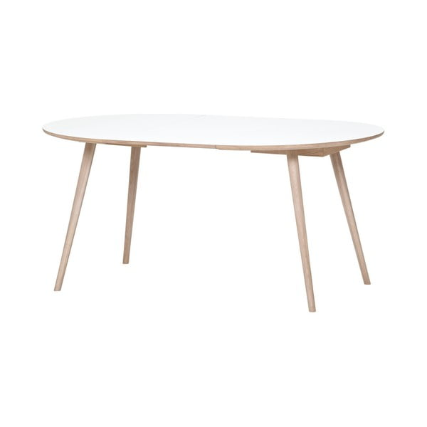 Hnědo-bílý jídelní stůl WOOD AND VISION Round, ⌀ 105 cm