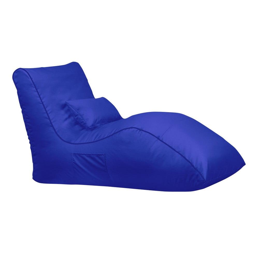 Modrý sedací vak Sit and Chill Palawan Chaise Longue