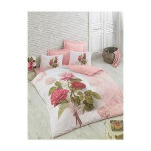 Lenjerie de pat cu cearșaf din bumbac Mino, 200 x 220 cm
