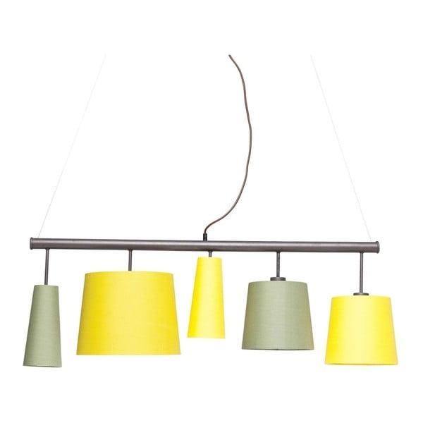 Žluté závěsné svítidlo Kare Design Parecchi, délka 140 cm