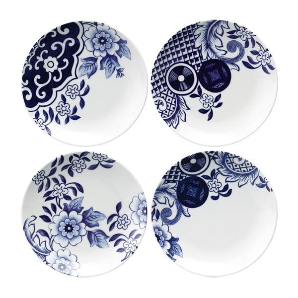 Sada 4 porcelánových dezertních talířů Willow Love Story