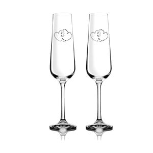 Sada 2 šampaňských fléten Metta se Swarovski Elements v luxusním balení