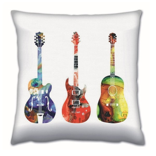 Gravel Guitars párna töltettel, 43 x 43 cm