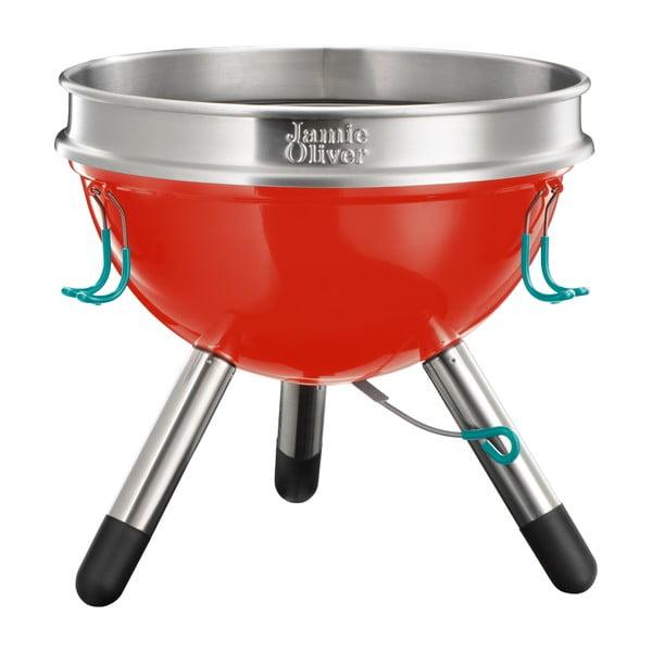 Menší červený přenosný gril Jamie Oliver