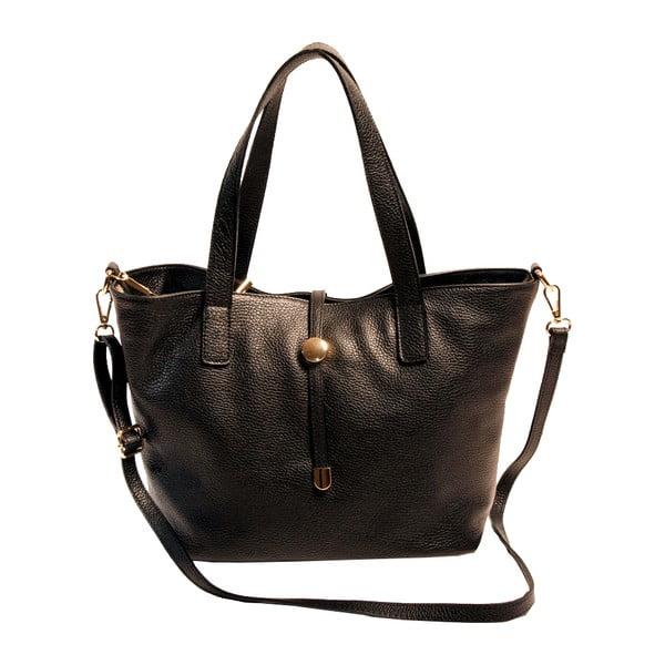 Černá kabelka z pravé kůže Andrea Cardone Matteo