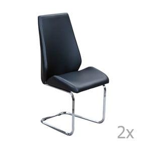 Set 2 scaune 13Casa Lira, negru