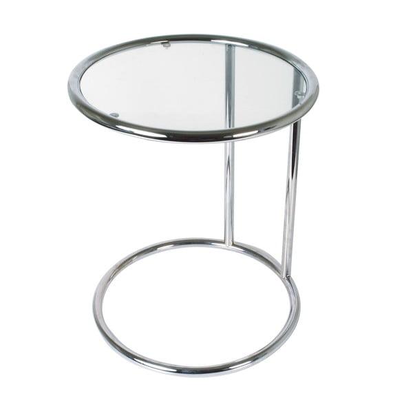 Skleněný stolek, chrom