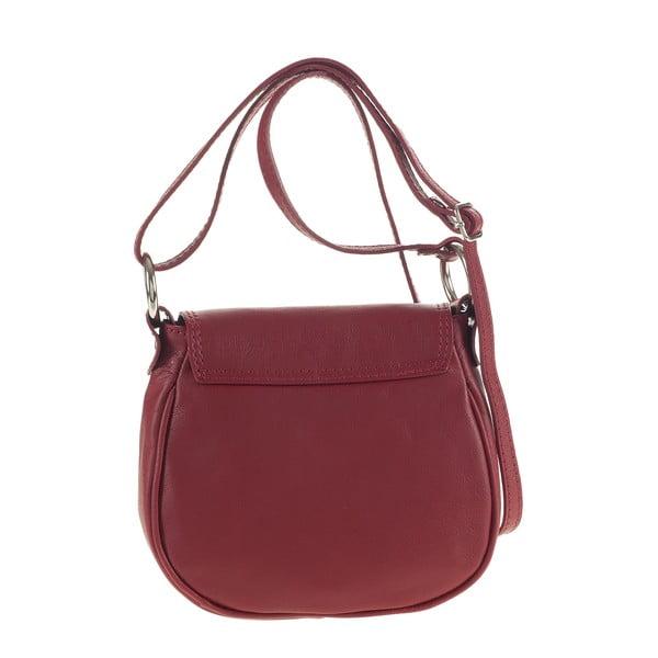 Kožená kabelka Ore Diece Livorno, červená