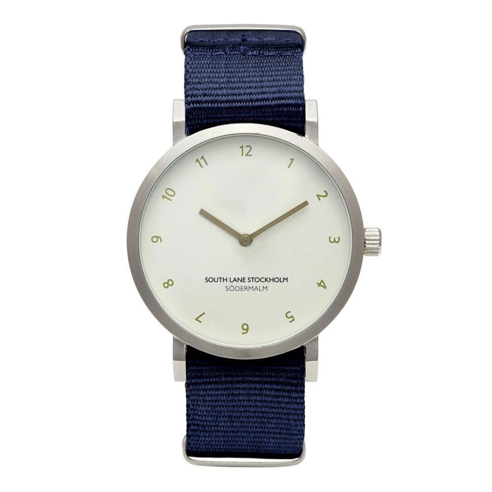 Unisex hodinky s modrým řemínkem South Lane Stockholm Sodermalm Big Classy
