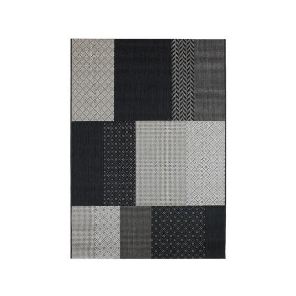 Koberec vhodný i do exteriéru Patio Natural Charcoal, 160x230 cm