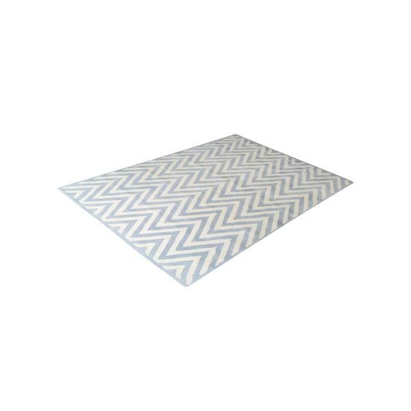 Vlněný koberec Ziggy Light Blue, 153x244 cm