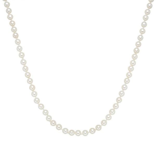 Náhrdelník s bílými perlami Perldesse Muschel, ⌀0,6xdélka40cm