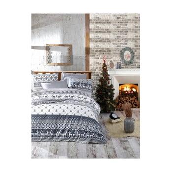 Lenjerie de pat cu cearșaf din bumbac Alesia, 200 x 220 cm de la Nazenin Home