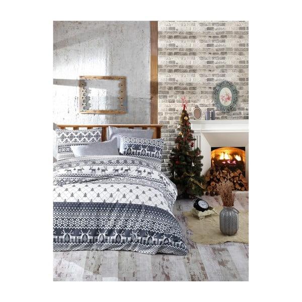 Alesia karácsonyi, kétszemélyes, pamut ágyneműhuzat lepedővel, 200 x 220 cm