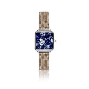 Dámské hodinky s páskem z nerezové oceli ve stříbrné barvě Emily Westwood Square Melange