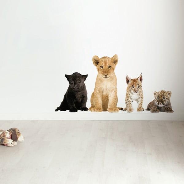 Samolepky Safari Friends - školka kočkovitých šelem