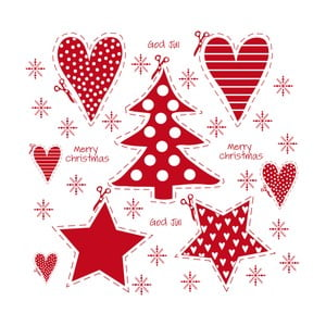 Balení 10 papírových ubrousků s vánočním motivem PPD Good Jul