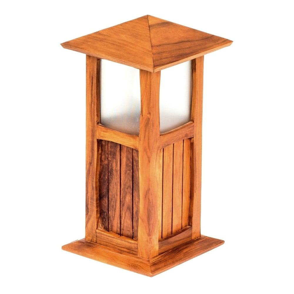 Zahradní stojací lampa z teakového dřeva Massive Home, výška 50 cm