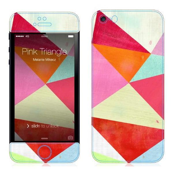 Samolepka na iPhone 5/5S, Pink Triangle