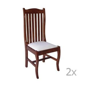 Set 2 scaune din lemn de palisandru Massive Home Lina