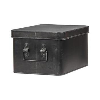 Cutie metalică pentru depozitare LABEL51 Media, lățime 27cm, negru imagine