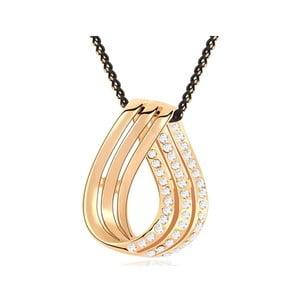Pozlacený náhrdelník s bílými krystaly Swarovski Elope