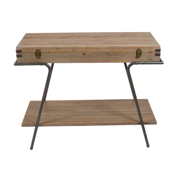 Konzolový stolek s úložným prostorem a detaily z jedlového dřeva Santiago Pons Industry