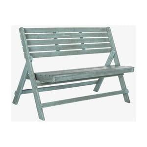 Modrá venkovní rozkládací dřevěná lavice Safavieh Ferrat
