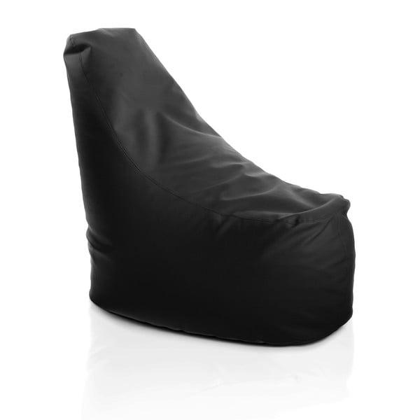 Kožený sedací vak Haci, černý