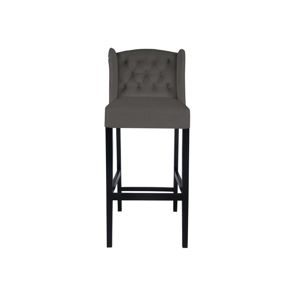 Tmavě šedá barová židle Micadoni Home Coro