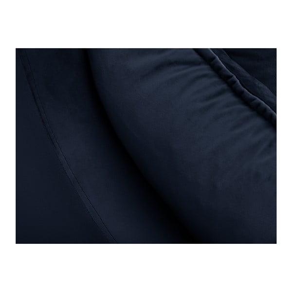 Tmavě modrá třímístná rozkládací pohovka s úložným prostorem Mazzini Sofas Pansy