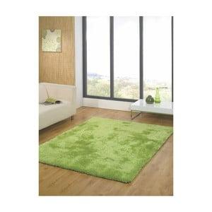 Zelený koberec Webtappeti Shaggy, 160x230cm