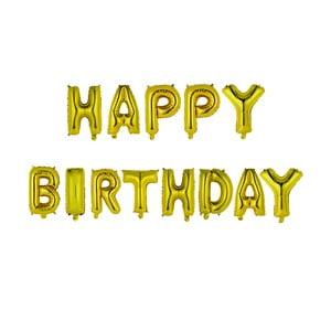 Sada nafukovacích písmen Le Studio Happy Birthday