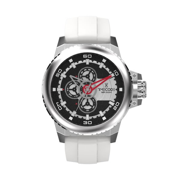 Pánské hodinky WWW 1991, Metallic/White