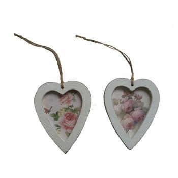 Set 2 inimi decorative de agățat Antic Line imagine