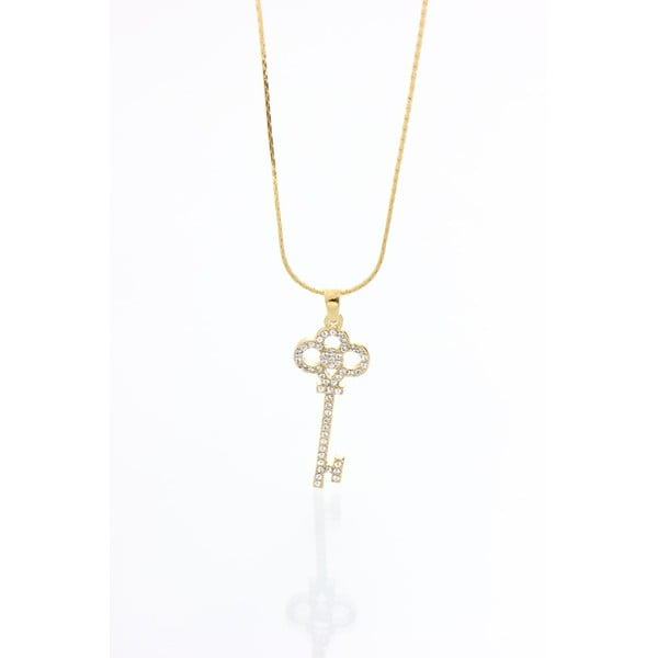 Náhrdelník se Swarovski krystaly Yasmine Golden Key