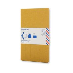 Žlutý zápisník v obálkové vazbě Moleskine Postal P