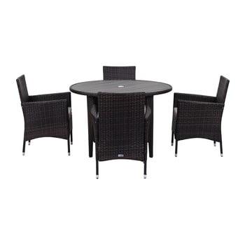 Set de mobilier pentru grădină Safavieh Malaga, negru imagine
