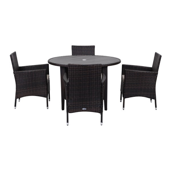 Malaga fekete kerti bútorszett - Safavieh