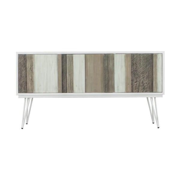 Brązowo-biała szafka pod TV sømcasa Niza, szer. 155 cm