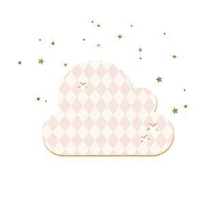 Dekorativní samolepící nástěnka Dekornik French Cloud Salmon Stars