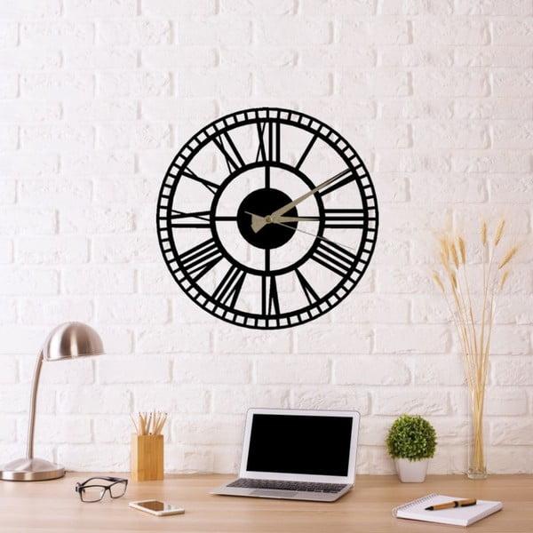 Ceas de perete Roman Clock 2, ⌀ 50 cm, negru