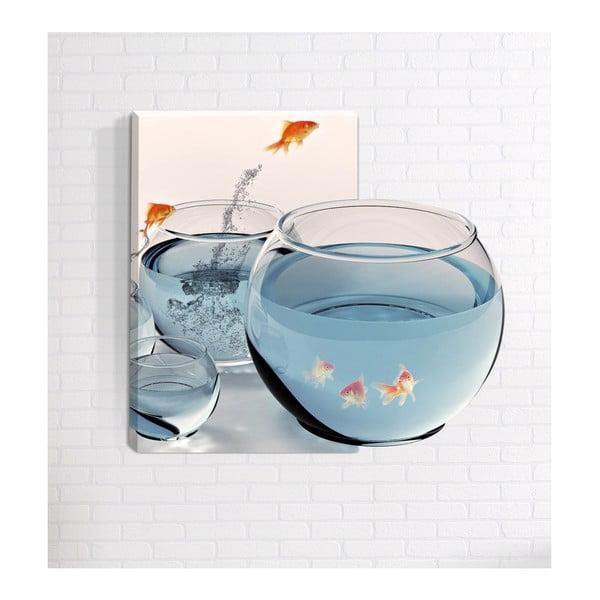 Fish 3D fali kép, 40 x 60 cm - Mosticx