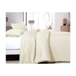 Lenjerie de pat din micropercal Zensation Satin Point, 140 x 200 cm, crem