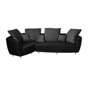 Canapea cu șezut pe partea stângă Florenzzi Viotti negru