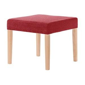 Scăunel Ted Lapidus Maison Pétale cu picioare maro, roșu